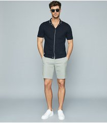 reiss wicket - casual chino shorts in sage, mens, size 38