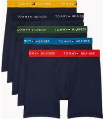 tommy hilfiger men's cotton classics boxer brief 5pk blue - xxl