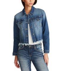 vigoss jeans cropped denim jacket