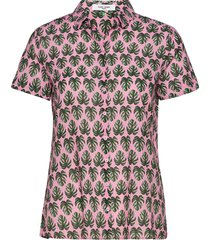 blouse short-sleeve kortärmad skjorta rosa gerry weber edition