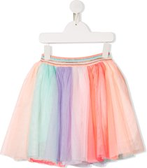 billieblush colour block tulle flared skirt - pink
