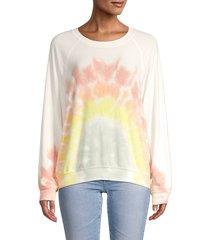 wildfox women's rainbow tie-dyed sweatshirt - rainbow tie dye - size xs