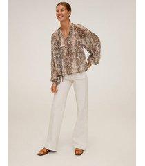 blouse met pofmouwen