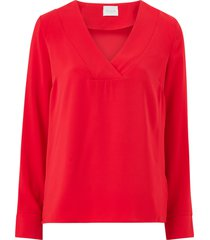 blus vilaia l/s v-neck top