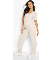 maternity slouchy jumpsuit, light grey