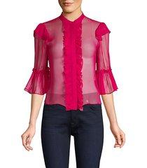 odele trumpet sleeve blouse