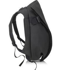 côte & ciel designer men's bags, isar medium black eco yarn backpack