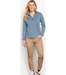 stripe-and-print detail sweatshirt