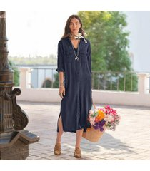sundance catalog women's bernadette maxi dress in endless sea large