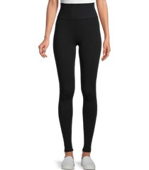 spiritual gangster women's high-rise leggings - black - size xs/s