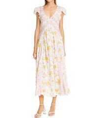 women's loveshackfancy archer floral print maxi dress