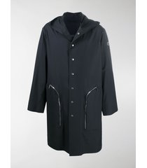 moncler + rick owens bell sleeve trench coat