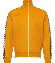 taped track jacket sweat-shirt tröja gul fred perry