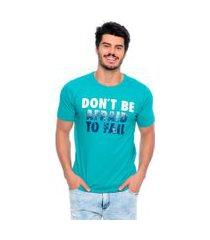 camiseta don't be afraid emporio alex malha verde