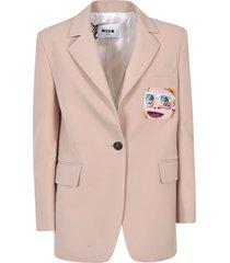 msgm single-button blazer