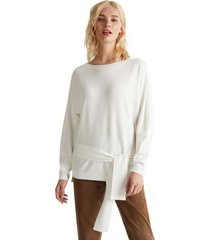 sweater con lazada blanco esprit