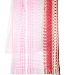 pareo chevron-knit scarf