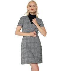 vestido gris mng