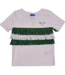 stella jean fringed detail t-shirt