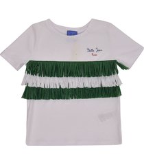stella jean fringed detail t-shirt