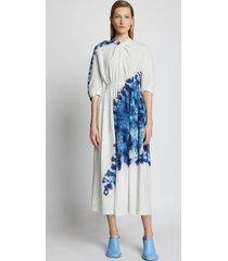 proenza schouler tie dye linen viscose dress bluemulti 8
