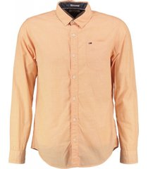 tommy hilfiger zacht oranje regular fit overhemd