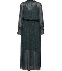 d2. fall flower crinkle dress maxiklänning festklänning grön gant