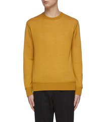 reversible crewneck knit sweater