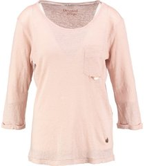 10 feet linnen shirt 3/4 mouw antique pink