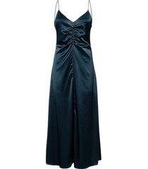 gila long dress 9697 knälång klänning blå samsøe samsøe