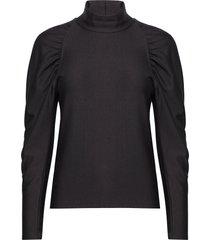 rifagz turtleneck blouse lange mouwen zwart gestuz