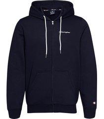 hooded full zip sweatshirt hoodie trui blauw champion