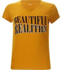camiseta beautiful realities color amarillo, talla l