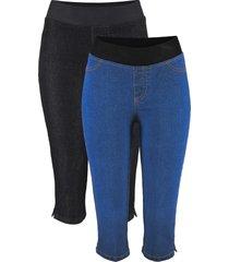 jeans elasticizzati capri comfort (pacco da 2) (blu) - john baner jeanswear