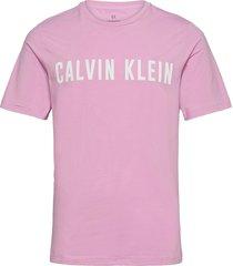 ss tee logo t-shirts short-sleeved rosa calvin klein performance