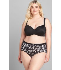 lane bryant women's extra soft full brief panty 34/36 tapshoe mini floral
