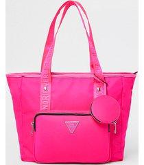 river island womens pink ri nylon shopper bag with mini pouch