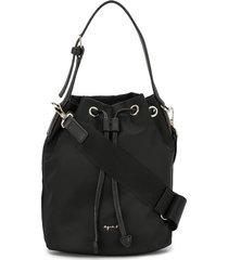 agnès b. drawstring bucket bag - black