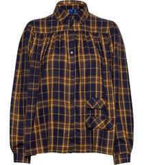 adrina shirt overhemd met lange mouwen blauw résumé