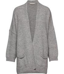 charlotte stickad tröja cardigan grå gai+lisva