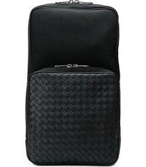 bottega veneta hi-tech canvas sling backpack - black