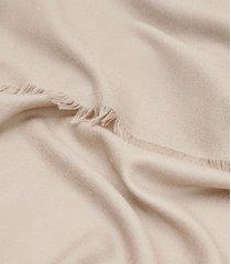 reiss iris - wool silk blend lightweight scarf in champagne, womens