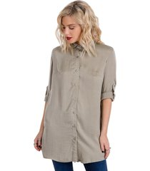 camisa beige kout carly