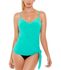 magicsuit alex side-tie underwire tankini top women's swimsuit