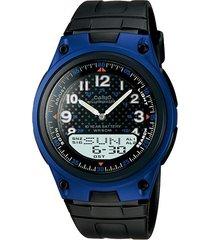 reloj casio aw 80 goma telememo 30 sport-azul