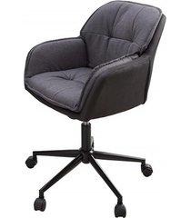 fotel biurowy longuer szare antracyt 82cm