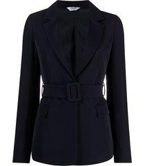 liu jo tailored belted blazer - blue