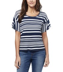 nine west women's allie flounce t-shirt