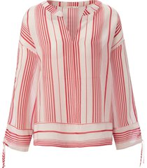 blouse v-hals en lange mouwen van lanius wit