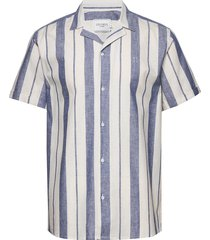 simon shirt overhemd met korte mouwen blauw les deux